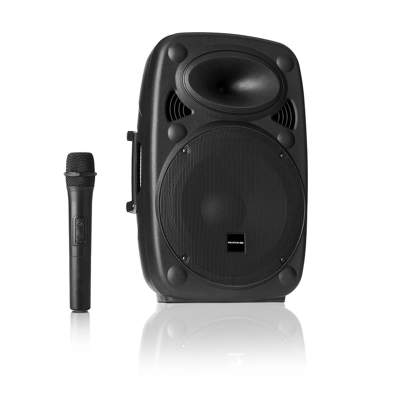 """Auna Pro Streetstar 10, mobilní PA systém, 10"""" (25.5 cm) woofer, UHF mikrofon, 400 W max."""