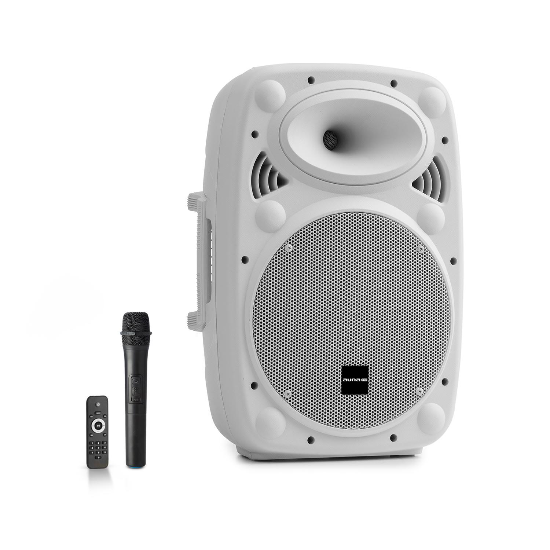 """Auna Pro Streetstar 10, mobilní PA systém, 10"""" (25.5 cm), UHF mikrofon, 400 W max., bílý"""