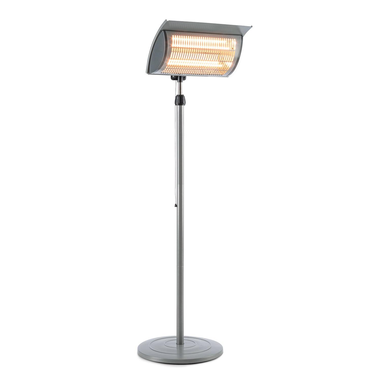 Blumfeldt Heat Guard Focus, terasový infračervený ohřívač, IR ComfortHeat, 1000/2000 W, šedý