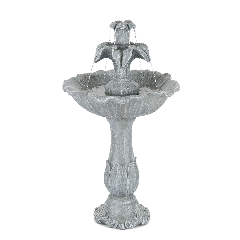 Blumfeldt Floreal, zahradní fontána, polyresin, 6 W, romantický design, vzhled kamene
