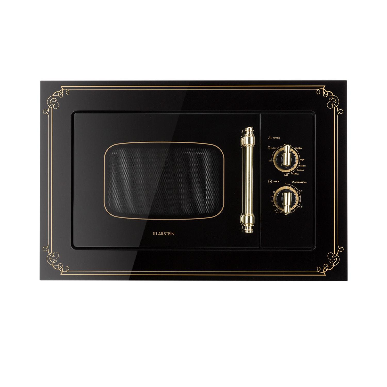 Klarstein Victoria 20, vestavěná mikrovlnná trouba, 20 l, 800 W, gril: 1000 W, černá