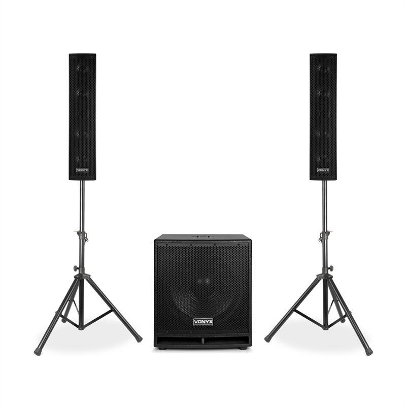 """Vonyx VX880BT, 2.1 aktivní reproduktorový set, 1000 W, 15 """", 2x8"""", USB / SD / MP3 / BT"""