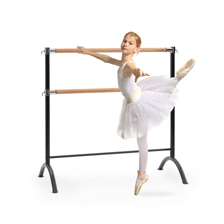 KLARFIT Barre Anna, dvojitá baletní tyč, volně stojící, 110x113, 2x38cm
