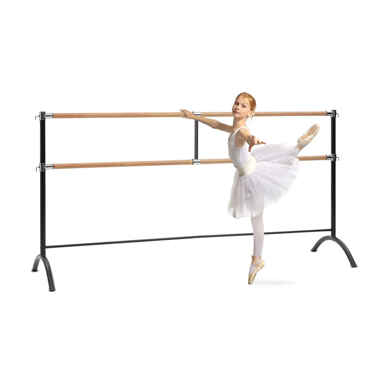 KLARFIT Barre Marie, dvojitá baletní tyč, volně stojící, 220x113, 2x38cm