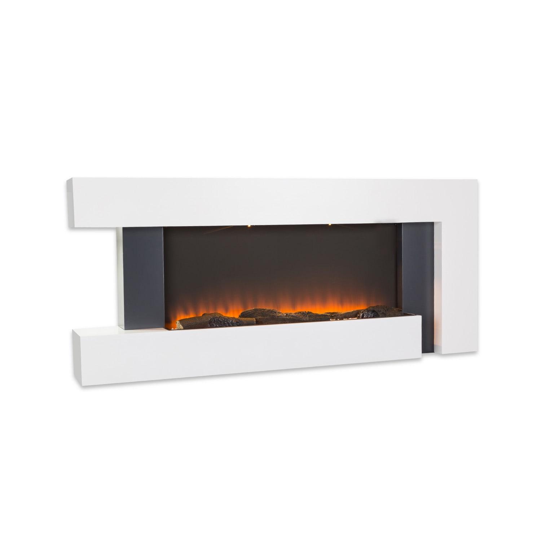 Klarstein Studio Light & Fire 2, elektrický krb, 1000/2000 W, MDF, diaľkový ovládač, biely