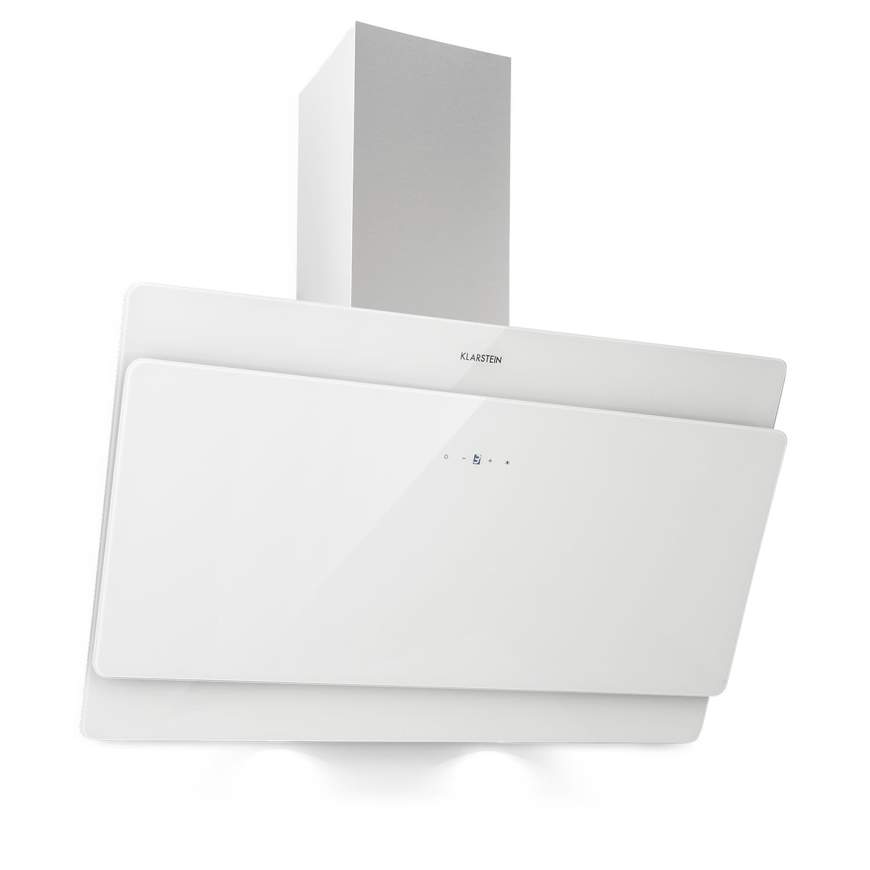 Klarstein Aurica 90, digestor, 90 cm, 610 m³/h, LED, dotykový, sklo, biely