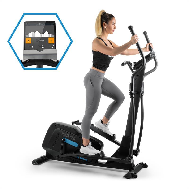 Capital Sports Helix Pro, crossový trenažér, bluetooth, aplikace, 20 kg setrvačník