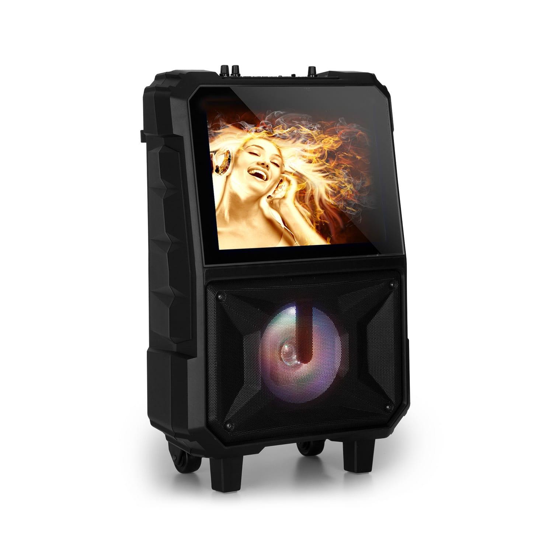 """Auna Centerstage 8, přenosný karaoke reproduktor, 40 W, 14.1"""" displej, bezdrátový mikrofon"""