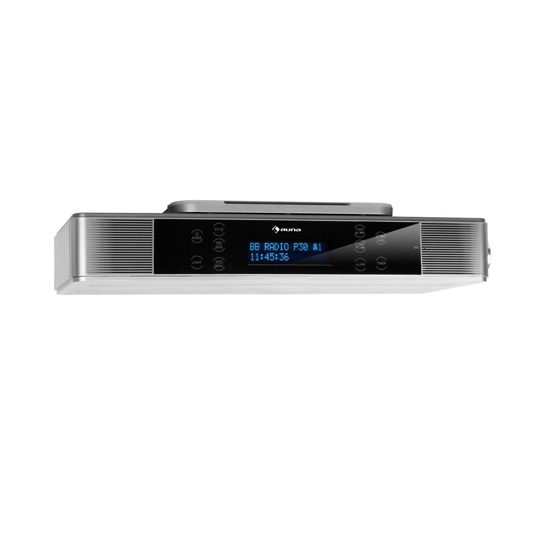 Auna KR-140, kuchyňské rádio, bluetooth, handsfree, LED osvětlení, stříbrné