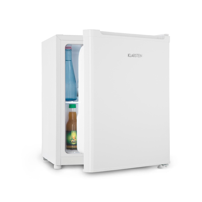 Klarstein Snoopy Eco, mini chladnička s mraziacim boxom, E, 41 litrov, 39 dB, biela