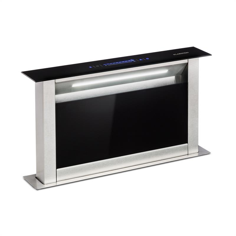 Klarstein Royal Flush Eco, výsuvný digestor, 60 cm, 576 m³/h, A+, čierny