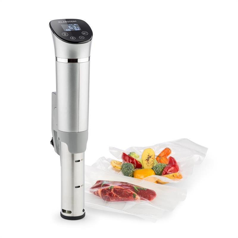 Klarstein QuickStick Flex, Sous-Vide vařič, 1300 W, 3D cirkulace, IPX7, časovač, 0 - 95 °C, stříbrný