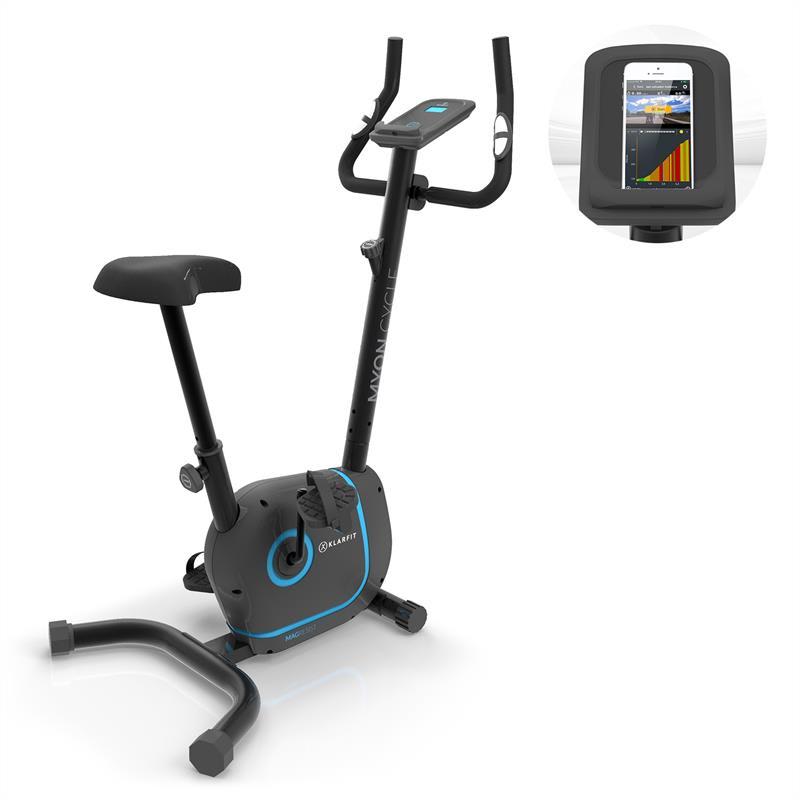 Levně KLARFIT Myon Cycle, domácí trenažér, 12 kg setrvačník, SmartCardio Studio, černý