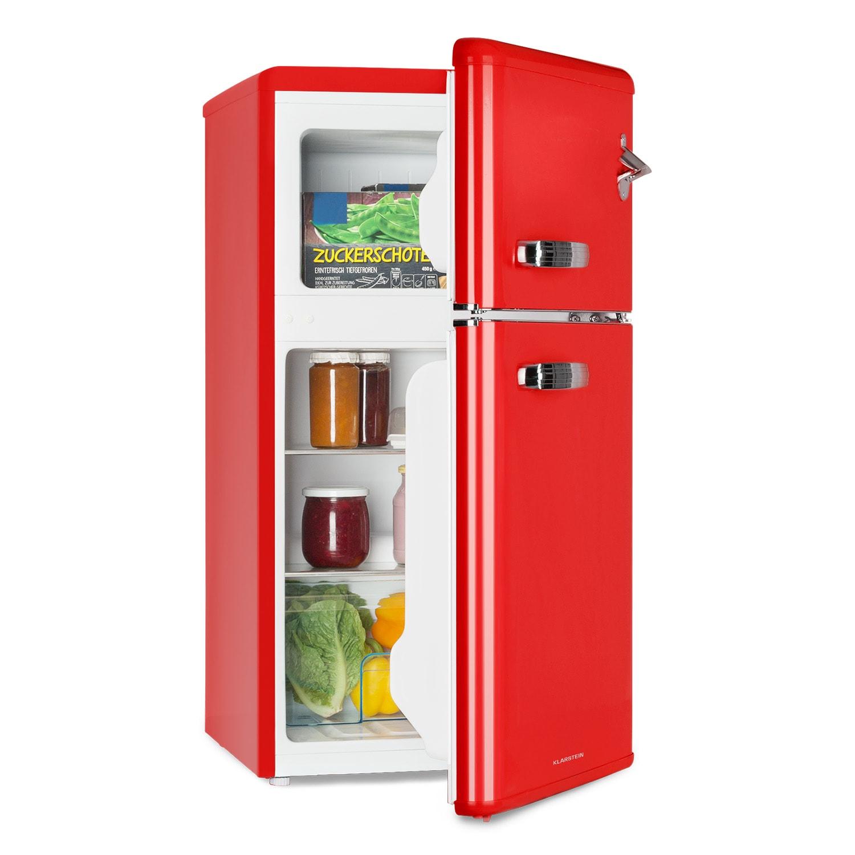 Klarstein Irene, retro chladnička s mrazničkou, 61 l chladnička, 24 l mrazák, červená