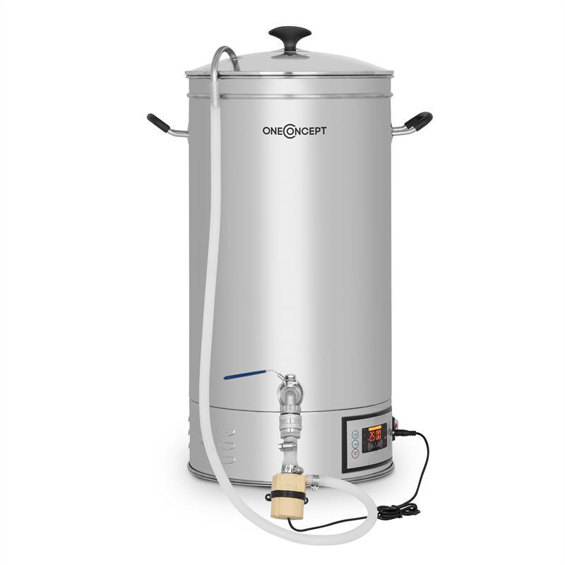 OneConcept Hopfengott 30, sladový kotel, 30 litrů, 30 - 140 °C, oběhové čerpadlo, ušlechtilá ocel