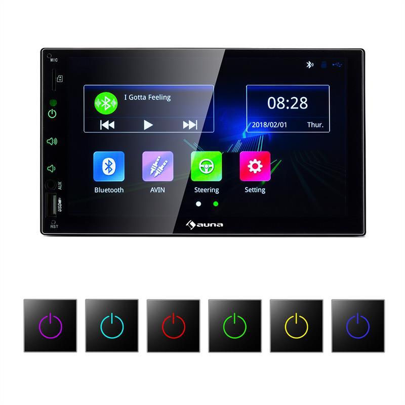 """Auna MVD-400 CP, autorádio, 7"""" dotykový displej, 4 x 45 W max., BT, Android Auto, USB, 2 DIN, černý"""