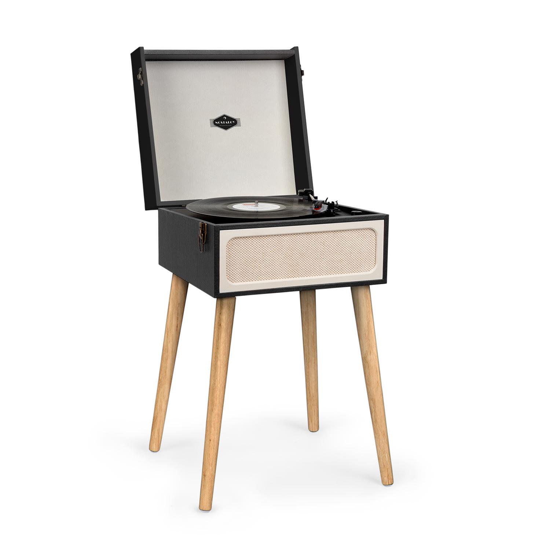Auna Sarah Ann, gramofon, bluetooth, USB, 33, 45 a 78 ot./min., černý/krémový