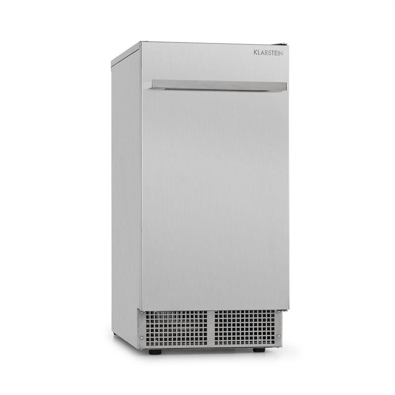 Klarstein Icetender, zařízení na výrobu ledu, nugety, 30 kg/24 hod., ušlechtilá ocel, stříbrné