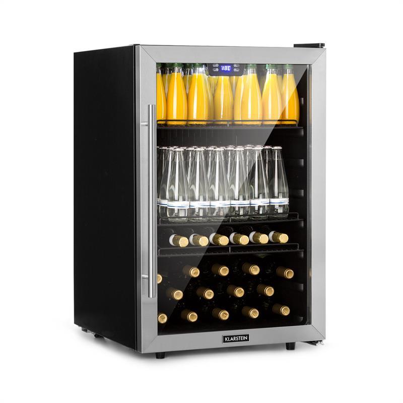 Klarstein Beersafe XXL, chladnička na nápoje, 148 l, A +, sklo, ušlechtilá ocel (HEA8-Beersafe-148)