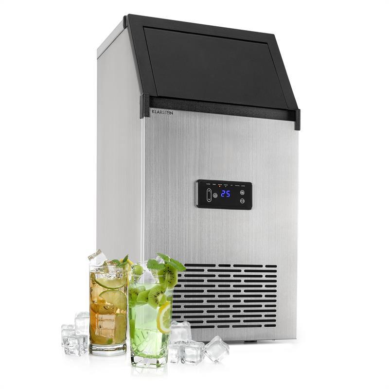 Klarstein Glacial XL, fesionální zařízení na výrobu kostek ledu, 38 kg / d, 15 l, LED, ušlechtilá ocel, černé