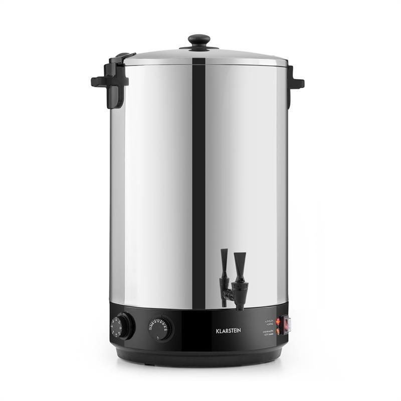 Klarstein KonfiStar 50, zavařovací hrnec, automat na teplé nápoje, 50 l, 110 °C, 120 min., ušlechtil