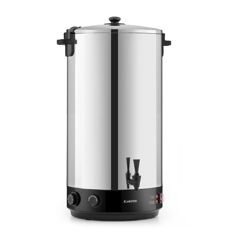 Klarstein KonfiStar 60, zavařovací hrnec, automat na teplé nápoje, 2500 W, 60 l, 110 °C, 120 min., u
