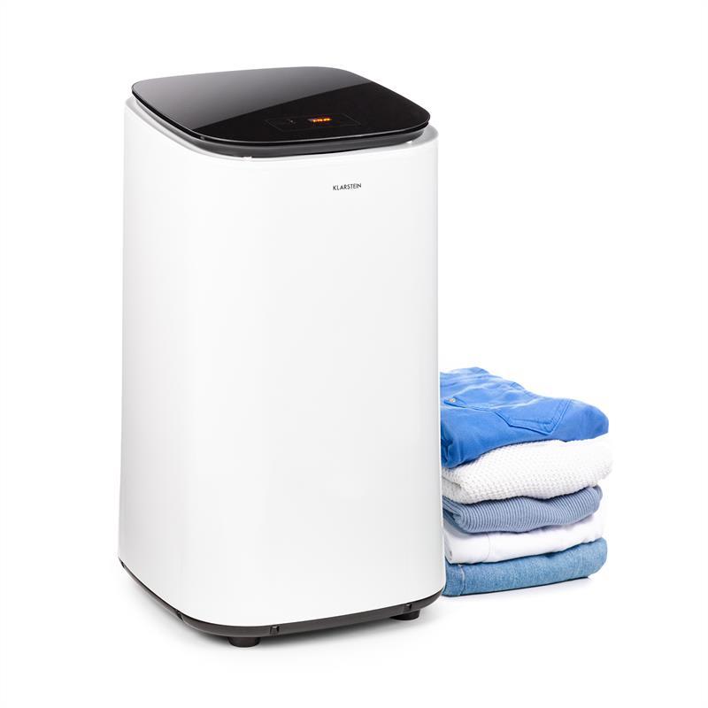 Klarstein Zap Dry, sušička bielizne, 820 W, 50 l, dotykový ovládací panel, LED, biela/čierna