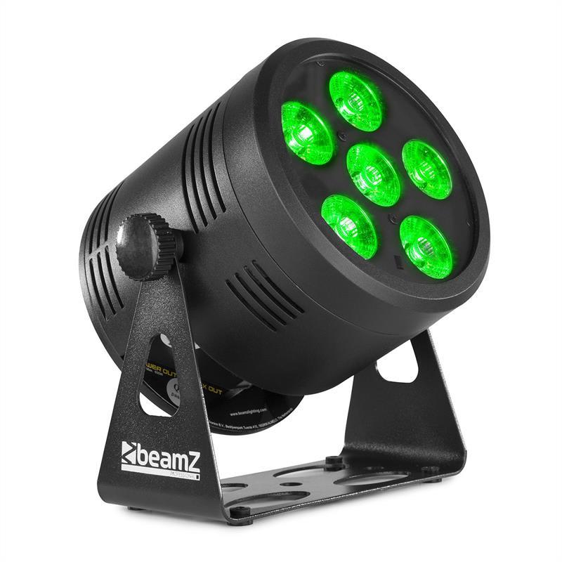 Beamz Professional BBP66 Uplight PAR, LED reflektor, 6 W, 4 v 1 RGBW LED diody, černý