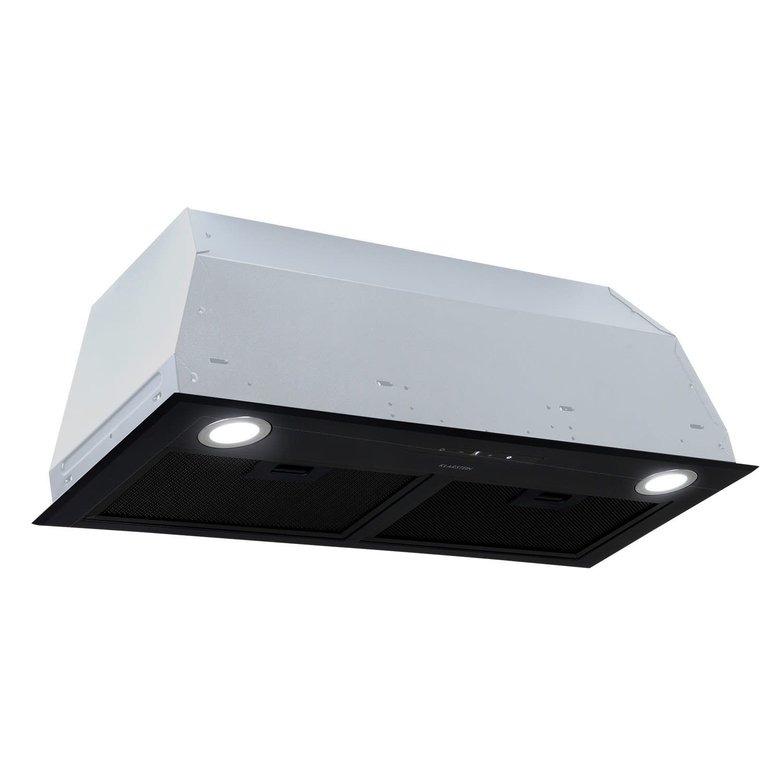 Klarstein Paolo, digestor, vstavaný, 72,5 cm, odsávanie vzduchu: 600 m³/h, LED, čierny