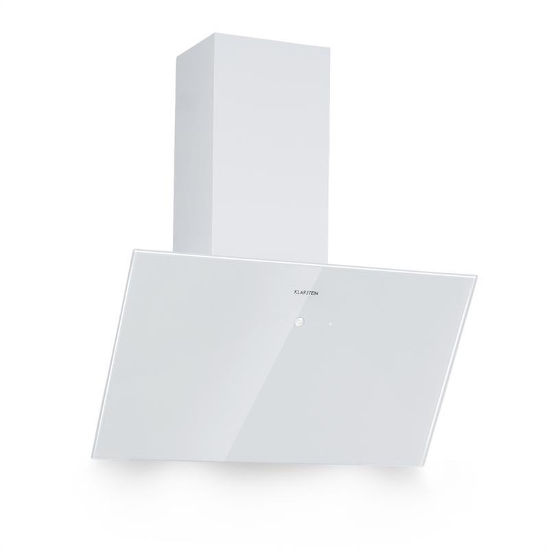 Klarstein Laurel 60, digestor, 60 cm, odsávanie: 350 m³/h, LED, dotykový displej, biely