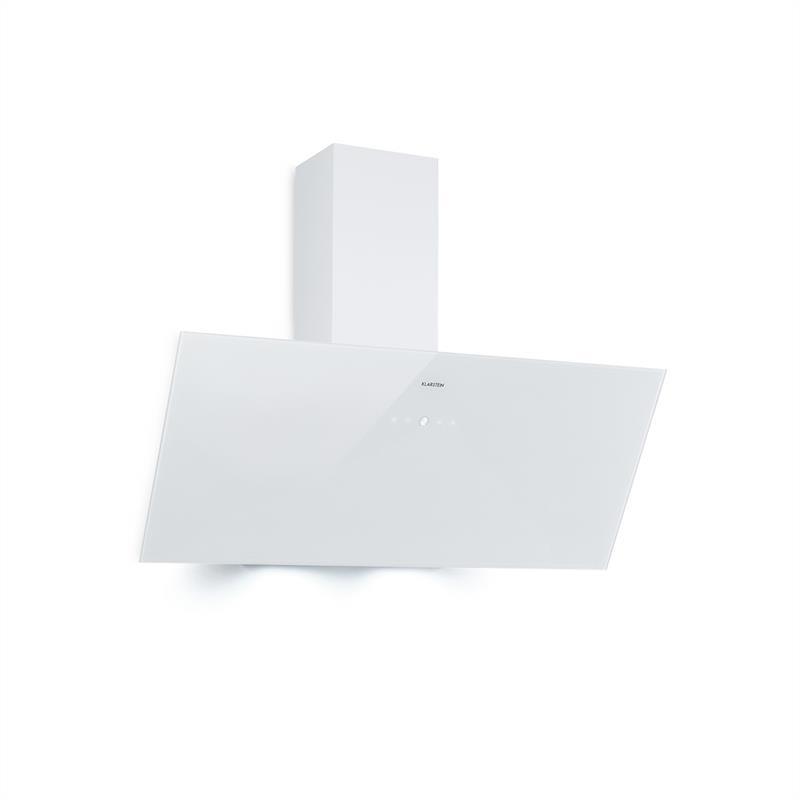 Levně Klarstein Laurel 90, odsavač par, 90cm, 350 m³/h, LED, dotykový, bílý