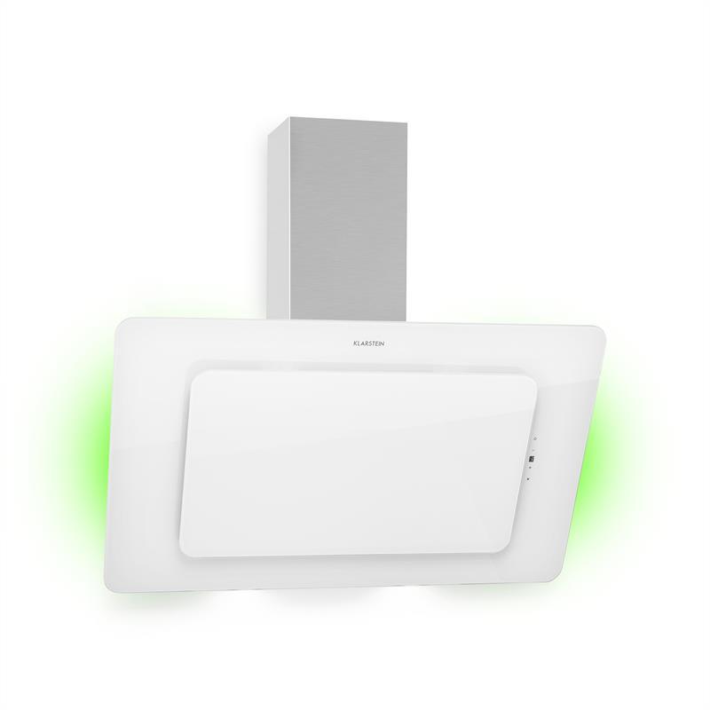 Klarstein Helena 90, odsávač pár, 595 m³/h, LED-displej, biely