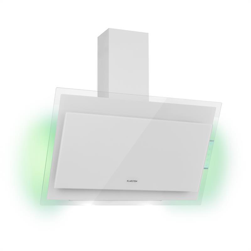 Klarstein Mirage 90, digestor, 550 m³/h, dotykový panel, energetická trieda A++, biely
