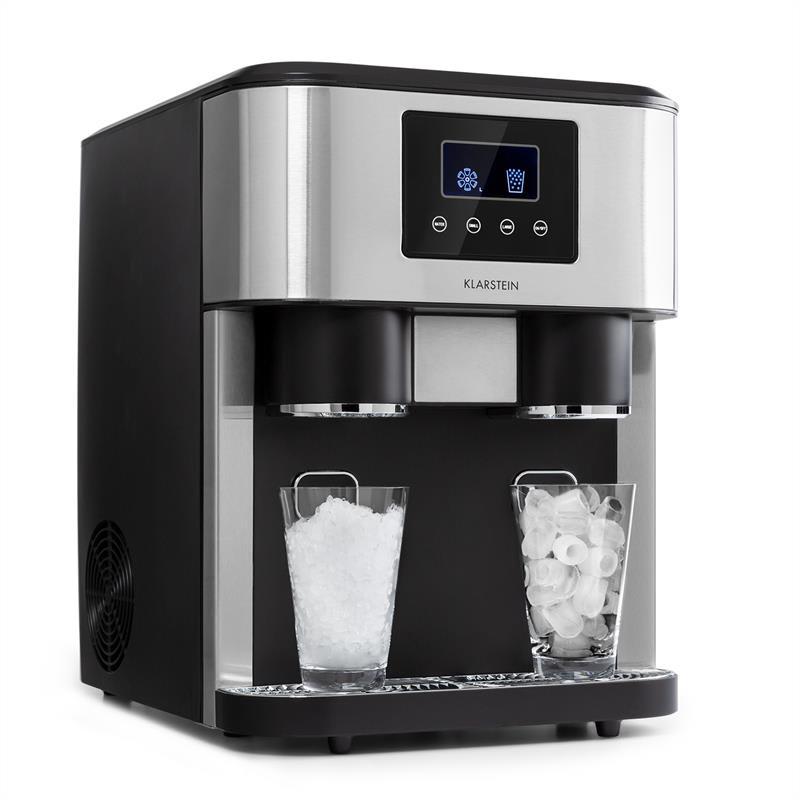 Klarstein Eiszeit Crush, výrobník ledu, 2 velikosti, drcený led, stříbrný