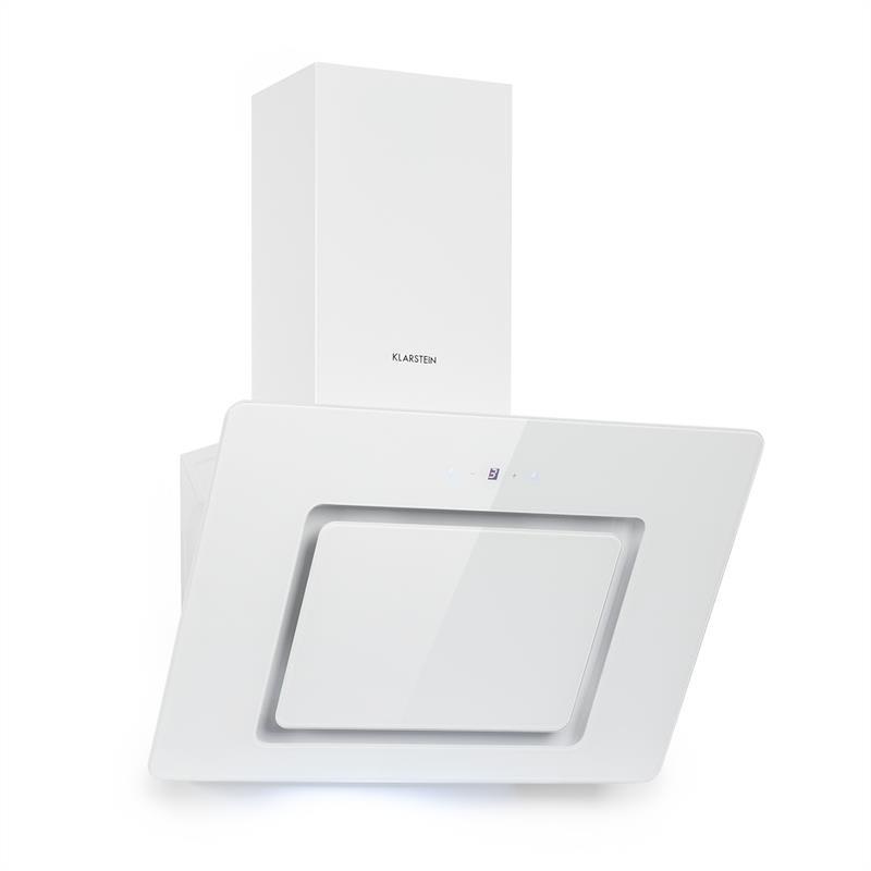 Klarstein Sofia 60, odsávač pár, 300 m³/h, dotykové ovládanie, sklenená predná strana, biely
