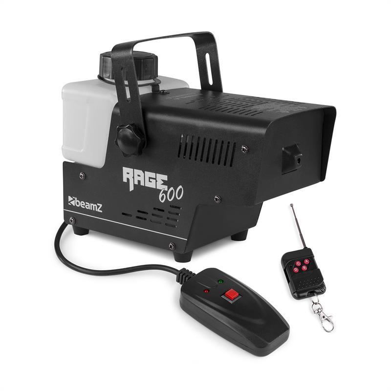 Beamz Rage 600, mlhovač, 600 W, 65 m³/min., 0.5 l, dálkový ovladač
