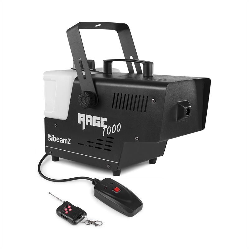 Beamz Rage 1000, mlhovač, 1000 W, 125 m³/min, 2 l, dálkový ovladač