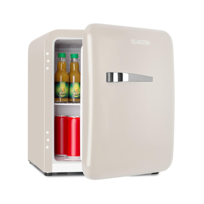 Klarstein Audrey, mini retro lednice, 48l, 2 úrovně, A+, krémová