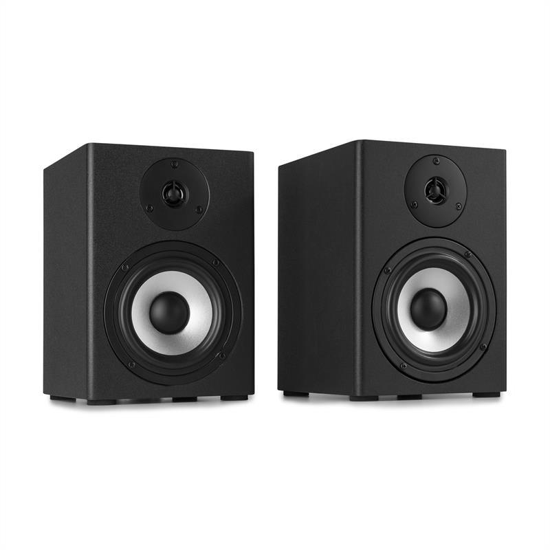 Vonyx SM50, sada studiových monitorů, 140 W max., 2-pásmové reproduktory, černá