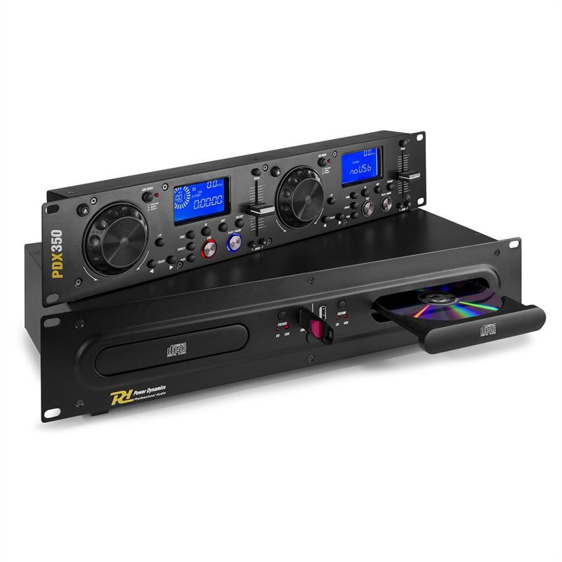 Power Dynamics PDX350, duální DJ-CD/USB-přehrávač-ovladač, CD/USB/MP3, černý