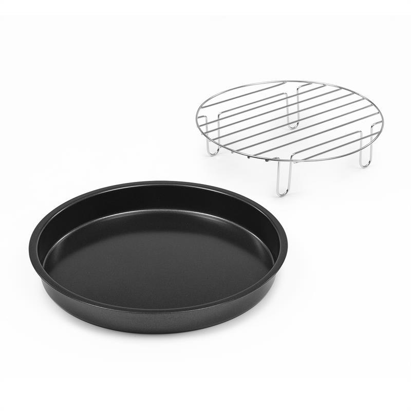 Klarstein AeroVital Cube Chef, tanier na pizzu, vysoký nástavec na grilovanie, príslušenstvo, ušľachtilá oceľ