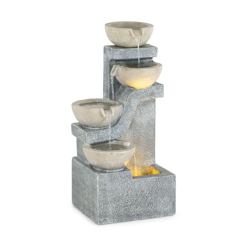 Blumfeldt Delos, fontána, LED, interiér a exteriér, 5 m kabel, cement, šedá