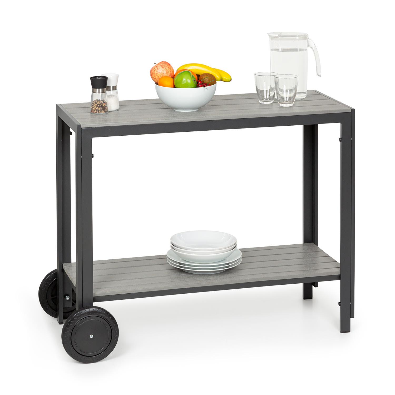 Blumfeldt Menorca Roll, servírovací stolek, 2 kolečka, polywood, hliník, týk