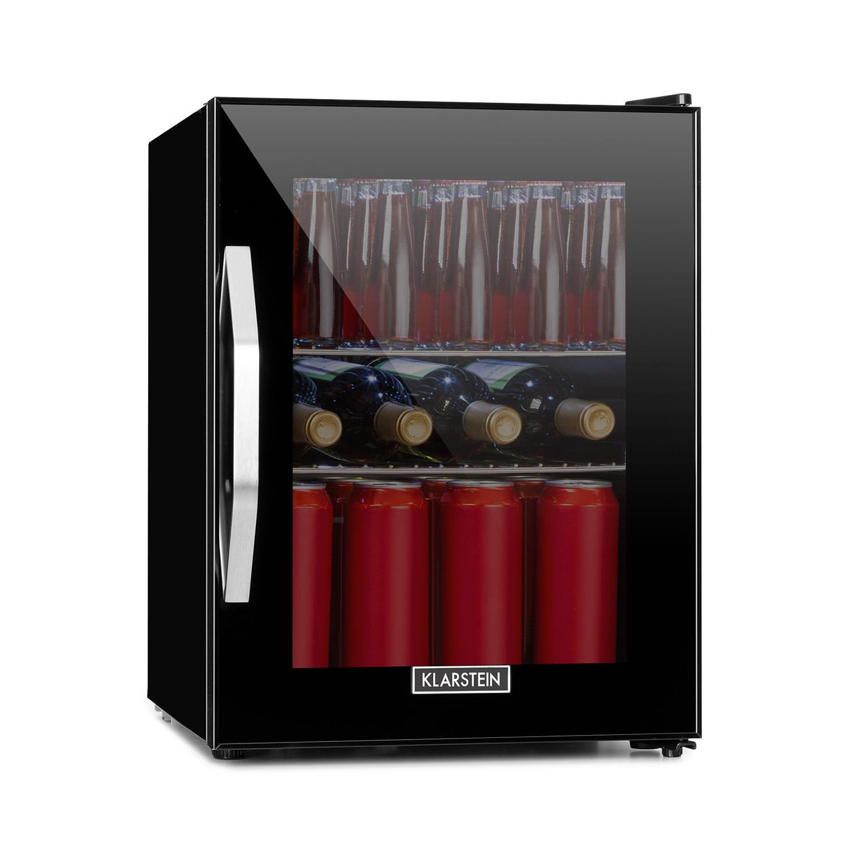 Klarstein Beersafe M Onyx, chladnička, A +, LED, 2 kovové rošty, skleněné dveře, onyx