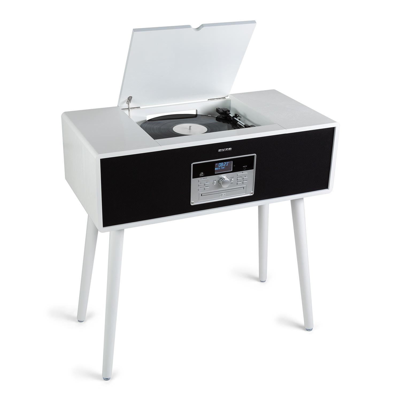 Auna Julie Ann, stereo systém, CD, BT, USB, DAB + / FM, AUX vstup, bílý