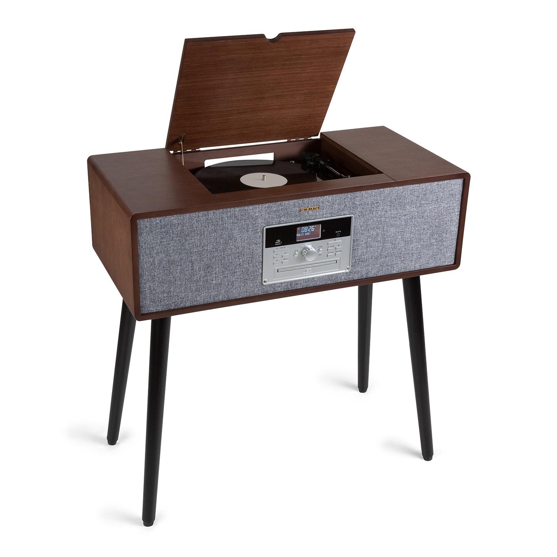 Auna Julie Ann, stereo systém, CD, BT, USB, DAB + / FM, AUX vstup, hnědý