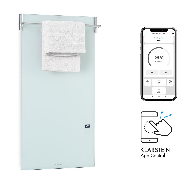 Klarstein Hot Spot Crystal Spotless Smart, infračervený ohrievač, 750 W, aplikácia, biely