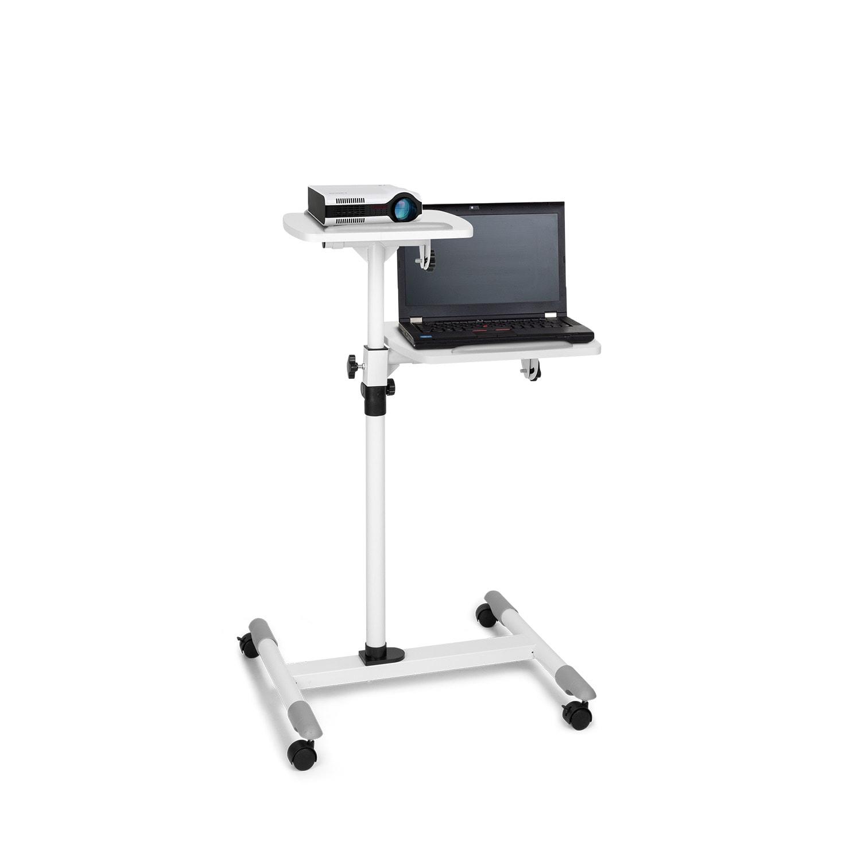 Auna Pro TS-6, vozík na projektor, stolek na notebook, výškově nastavitelný, 83-107 cm, bílý