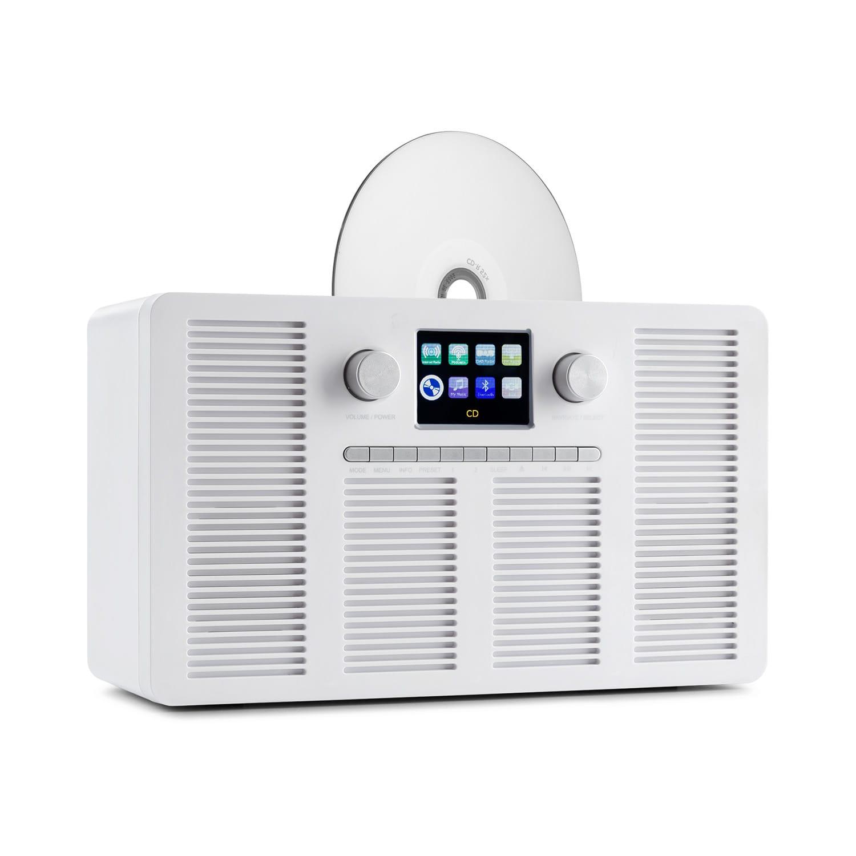 """Auna Vertico, internetové rádio s CD přehrávačem, IR/DAB+/FM, BT, 2,4"""", HCC, displej"""