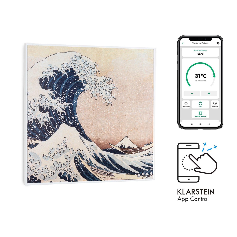 Klarstein Wonderwall Air Art Smart, infračervený ohrievač, 60 x 60 cm, 350 W, aplikácia, vlny